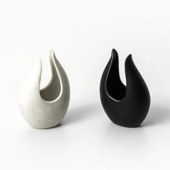 Gunnar Nylund Caolina ceramic vases at Studio Schalling
