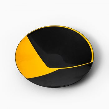 Ib Geertsen enamel bowl in black / yellow at Studio Schalling