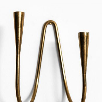Carl Auböck wall hanged candlestick in brass at Studio Schalling