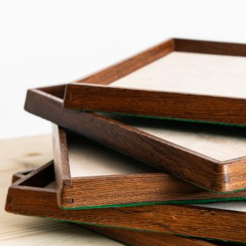 Old display trays in wengé from 1950's at Studio Schalling