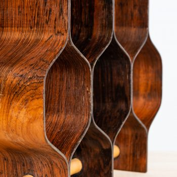 Torsten Johansson wine rack in rosewood at Studio Schalling