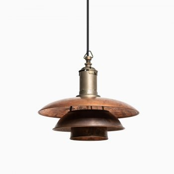 Poul Henningsen ceiling lamps PH 3/3 in copper at Studio Schalling