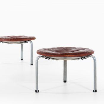 Poul Kjærholm PK-33 stools by E. Kold Christensen at Studio Schalling