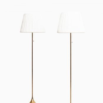 Pair of floor lamp model G-025 by Bergbom at Studio Schalling