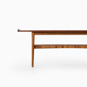 Mid century coffee table in teak and oak at Studio Schalling
