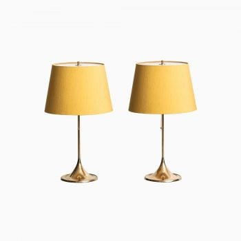 Bergbom table lamps model B-024 in brass at Studio Schalling