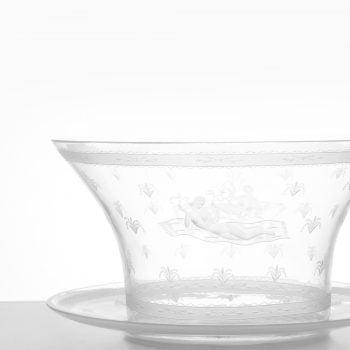 Simon Gate glass vase by Orrefors at Studio Schalling