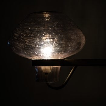 Gunnar Asplund wall lamps in steel by ASEA at Studio Schalling