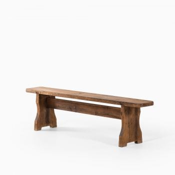 Bench in acid treated pine at Studio Schalling