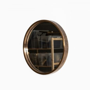 Glasmäster mirror nr 131 in brass at Studio Schalling