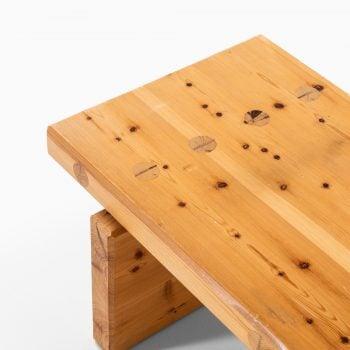 Roland Wilhelmsson Bamse bench in pine at Studio Schalling