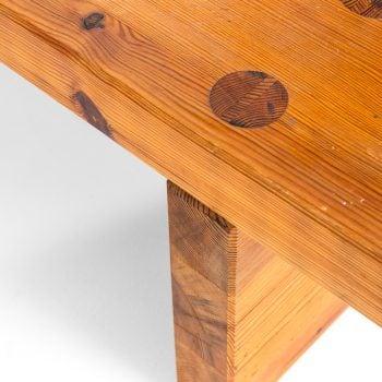 Roland Wilhelmsson bench in solid pine at Studio Schalling