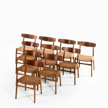Hans Wegner CH-23 dining chairs in oak at Studio Schalling
