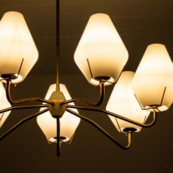 ASEA ceiling lamp in brass and opaline glass at Studio Schalling