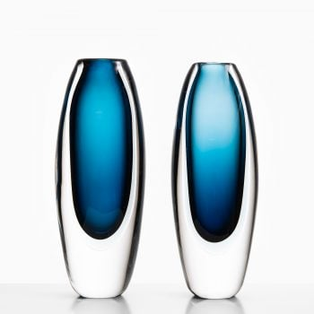 Vicke Lindstrand glass vases by Kosta at Studio Schalling
