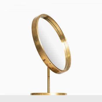 Brass table mirror by Glas mäster at Studio Schalling