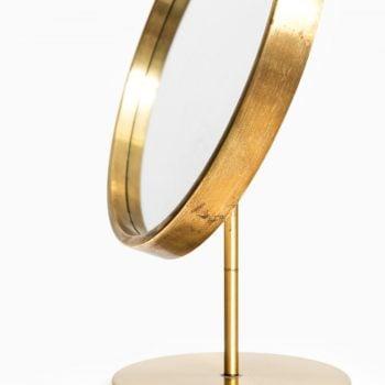 Brass table mirror by Glas mäster at Studio Schalling