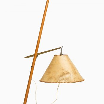 J.T Kalmar very rare floor lamp in brass at Studio Schalling