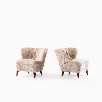 Gösta Jonsson easy chairs in sheepskin at Studio Schalling
