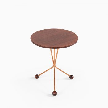 Alberts side table in copper and teak at Studio Schalling