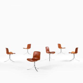 Poul Kjærholm PK-9 dining chairs by EKC at Studio Schalling