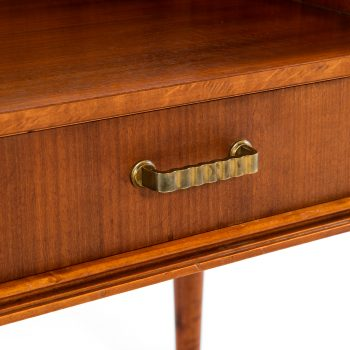 Pair of bedside tables in mahogany at Studio Schalling