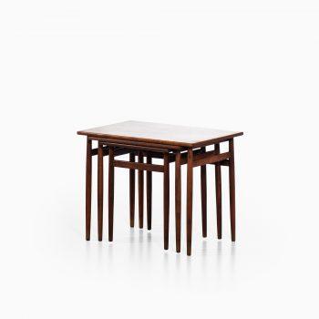 Svante Skogh nesting tables in rosewood at Studio Schalling