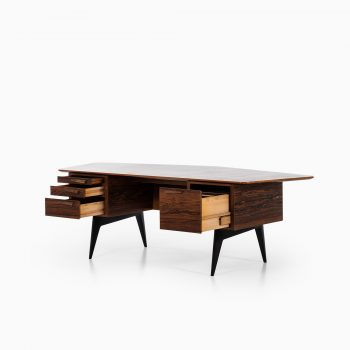 Hadar Schmidt desk in rosewood and brass at Studio Schalling