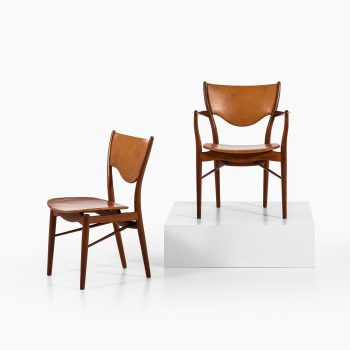 Finn Juhl dining chairs model BO-63 & BO-72 at Studio Schalling