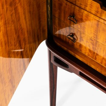 Rosewood cabinet with brass details at Studio Schalling