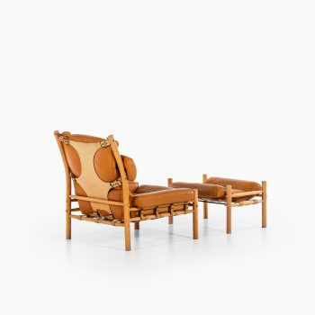 Arne Norell Inca easy chairs with stools at Studio Schalling