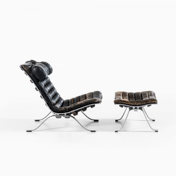 Arne Norell Ari easy chairs with stools at Studio Schalling