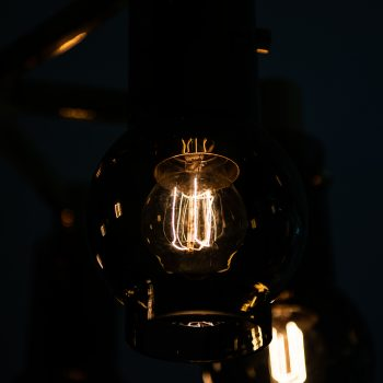 Hans-Agne Jakobsson ceiling lamp in brass at Studio Schalling