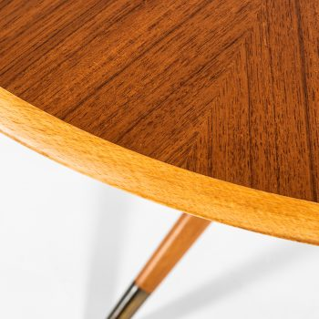 David Rosén dining table in teak and brass at Studio Schalling