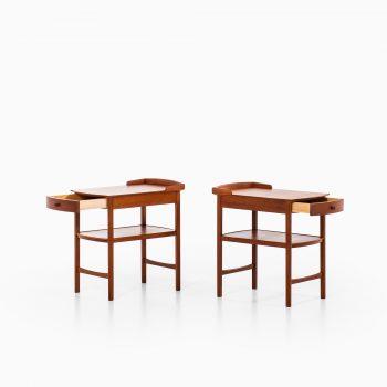 Carl Malmsten bedside tables in mahogany at Studio Schalling