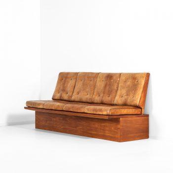 Unique Ole Wanscher hallway sofa in mahogany at Studio Schalling