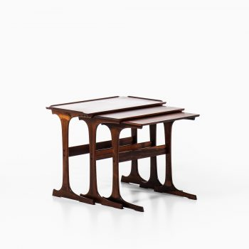 Johannes Andersen nesting tables in rosewood at Studio Schalling