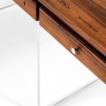 Poul Nørreklit desk in rosewood and plexiglass at Studio Schalling