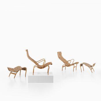 Bruno Mathsson Pernilla easy chairs in birch at Studio Schalling