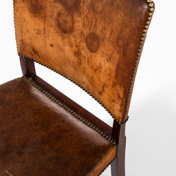 Jacob Kjær side chairs in niger leather at Studio Schalling