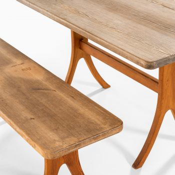 Dining set in pine attributed to Carl Malmsten at Studio Schalling