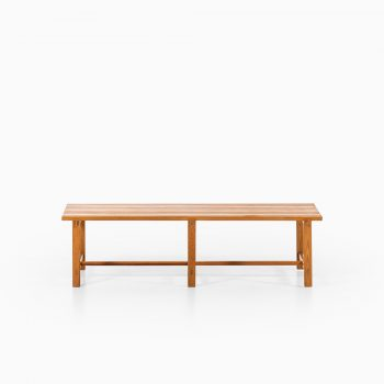 Rare bench / side table in pine at Studio Schalling