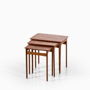 Svend Aage Madsen nesting tables in teak at Studio Schalling