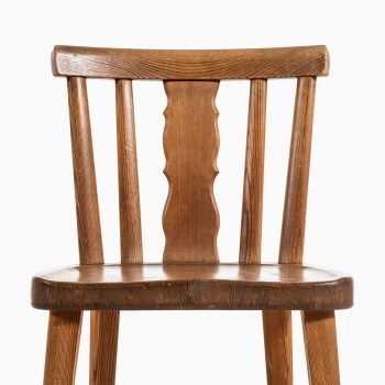 Axel Einar Hjorth dining chairs in pine at Studio Schalling