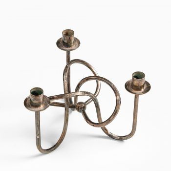 Josef Frank candlestick the Knot in silver plated brass at Studio Schalling
