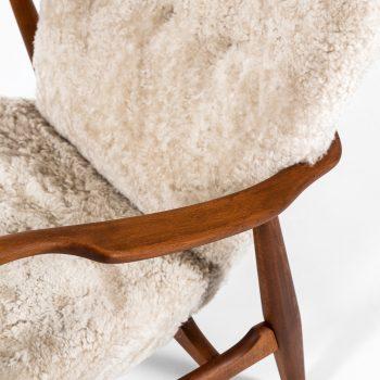 Ib Madsen & Acton Schubell easy chairs in sheepskin at Studio Schalling