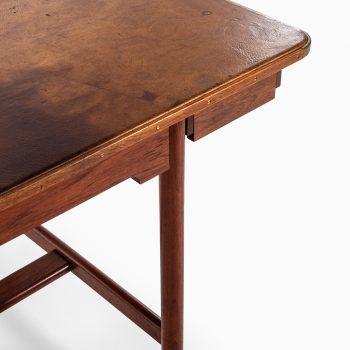 Mogens Koch desk with pigskin leather top at Studio Schalling
