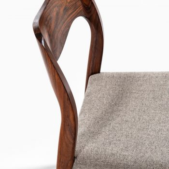 Niels O. Møller dining chairs model 71 in rosewood at Studio Schalling