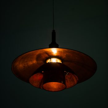 Poul Henningsen ceiling lamp model PH-4 in copper at Studio Schalling