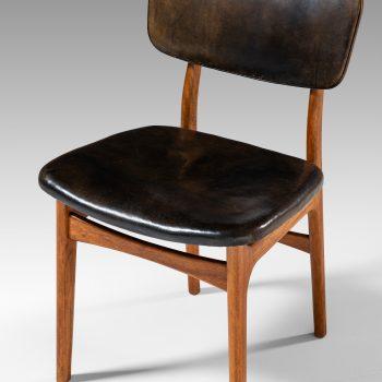 Gustav Bertelsen dining chairs in mahogany at Studio Schalling